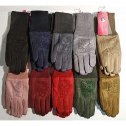 Перчатки девочка замшевые на меху RONAERDO Y1