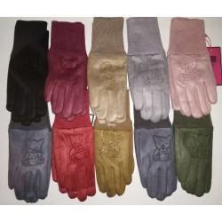 Перчатки девочка замшевые на меху RONAERDO Y3