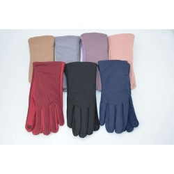 Перчатки женские плащёвка замш на флисе ONE 2.0-2