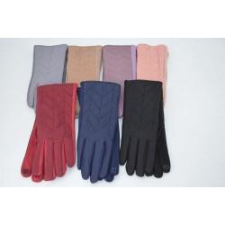 Перчатки женские плащёвка замш на флисе ONE 2.0-3