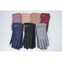 Перчатки женские плащёвка замш на флисе ONE 2.0-4