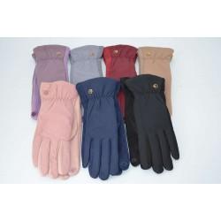Перчатки женские плащёвка замш на флисе ONE 2.0-5