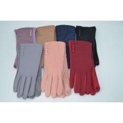 Перчатки женские плащёвка замш на флисе ONE 2.0-1