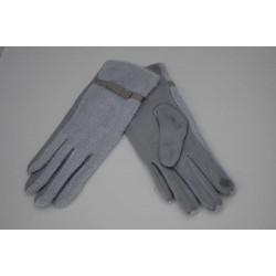 Перчатки женские вязка замша на флисе ONE 1.8-1