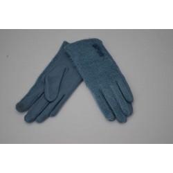 Перчатки женские вязка замша на флисе ONE 1.8-4