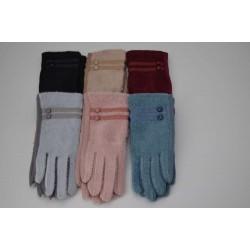 Перчатки женские вязка замша на флисе ONE 1.8-5