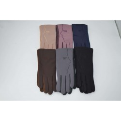 Перчатки женские кожзам на меху ONE 1.8-C1