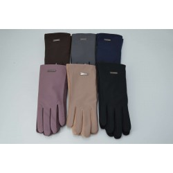 Перчатки женские кожзам на меху ONE 1.8-C2