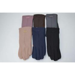 Перчатки женские кожзам на меху ONE 1.8-C3