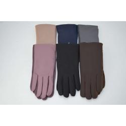 Перчатки женские кожзам на меху ONE 1.8-C4