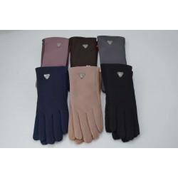 Перчатки женские кожзам на меху ONE 1.8-C5