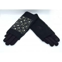 Перчатки женские двойные трикотаж вязка с сенсором ONE 2.1