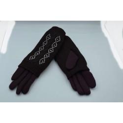 Перчатки женские двойные трикотаж вязка ONE 1.7